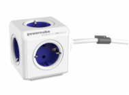 allocacoc PowerCube Extended incl. 1,5 m Cable blue Type F